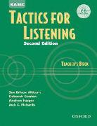 Cover-Bild zu Tactics for Listening Basic. Second Edition. Teacher's Book with Audio CD von Aldcorn, Sue Brioux