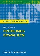 Cover-Bild zu Frühlings Erwachen von Frank Wedekind von Wedekind, Frank