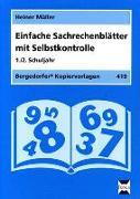 Cover-Bild zu Einfache Sachrechenblätter mit Selbstkontrolle. 1./2. Schuljahr von Müller, Heiner