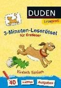 Cover-Bild zu Duden Leseprofi - 3-Minuten-Leserätsel für Erstleser: Einfach tierisch von Moll, Susanna