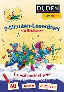Cover-Bild zu Duden Leseprofi - 3-Minuten-Leserätsel für Erstleser: Es weihnachtet sehr von Moll, Susanna