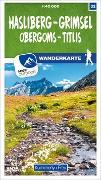 Cover-Bild zu Hasliberg - Grimsel Obergoms - Titlis 32 Wanderkarte 1:40 000 matt laminiert. 1:40'000
