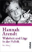 Cover-Bild zu Arendt, Hannah: Wahrheit und Lüge in der Politik (eBook)