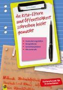 Cover-Bild zu Textwerkstatt für Erzieher und Erzieherinnen: An Kita-Eltern und Öffentlichkeit schreiben leicht gemacht von Wagner, Yvonne