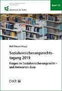 Cover-Bild zu Kieser, Ueli (Hrsg. Koord.): Sozialversicherungsrechtstagung 2019