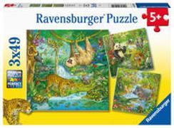 Cover-Bild zu Ravensburger Kinderpuzzle 05180 - Im Urwald - 3x49 Teile Puzzle für Kinder ab 5 Jahren