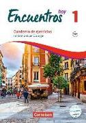 Cover-Bild zu Gropper, Alexander: Encuentros Hoy 1. Cuaderno de ejercicios mit interaktiven Übungen auf scook.de