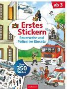 Cover-Bild zu Coenen, Sebastian (Illustr.): Erstes Stickern Feuerwehr und Polizei im Einsatz