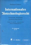 Cover-Bild zu 39. Aktualisierung - Internationales Biotechnologierecht