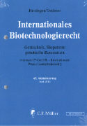 Cover-Bild zu 45. Aktualisierung - Internationales Biotechnologierecht