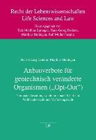 """Cover-Bild zu Dederer, Hans-Georg: Anbauverbote für gentechnisch veränderte Organismen (""""Opt-Out"""")"""