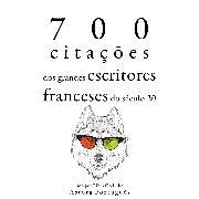 Cover-Bild zu France, Anatole: 700 citações dos grandes escritores franceses do século 20 (Audio Download)