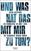 Cover-Bild zu Batthyany, Sacha: Und was hat das mit mir zu tun?