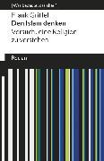 Cover-Bild zu Griffel, Frank: Den Islam denken (eBook)