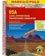 Cover-Bild zu MARCO POLO ReiseAtlas USA, Alaska, Südliches Kanada 1:4 000 000. 1:4'000'000