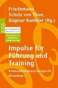 Cover-Bild zu Schulz von Thun, Friedemann (Hrsg.): Impulse für Führung und Training
