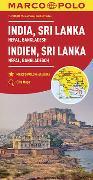 Cover-Bild zu India, Sri Lanka, Nepal, Bangladesh Marco Polo Map. 1:2'500'000