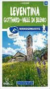 Cover-Bild zu Hallwag Kümmerly+Frey AG (Hrsg.): Leventina Gotthard - Valle di Blenio Nr. 43 Wanderkarte 1:40 000. 1:40'000