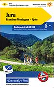 Cover-Bild zu Hallwag Kümmerly+Frey AG (Hrsg.): Jura Franches-Montagnes Ajoie Nr. 03 Wanderkarte 1:60 000. 1:60'000
