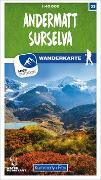 Cover-Bild zu Hallwag Kümmerly+Frey AG (Hrsg.): Andermatt - Surselva Nr. 33 Wanderkarte 1:40 000. 1:40'000