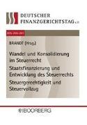 Cover-Bild zu Brandt, Jürgen (Hrsg.): 12. bis 14. Deutscher Finanzgerichtstag 2015·2016·2017