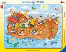 Cover-Bild zu Ravensburger Kinderpuzzle - 06604 Die große Arche Noah - Rahmenpuzzle für Kinder ab 4 Jahren, mit 48 Teilen