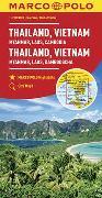 Cover-Bild zu MARCO POLO Kontinentalkarte Thailand, Vietnam 1:2 500 000. 1:2'500'000