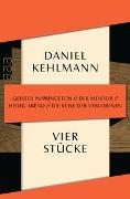 Cover-Bild zu Kehlmann, Daniel: Vier Stücke