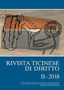 Cover-Bild zu Rivista ticinese di diritto II-2018