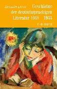 Cover-Bild zu Geschichte der deutschen Literatur Bd. 10: Geschichte der deutschsprachigen Literatur 1918 bis 1933