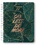 Cover-Bild zu Glamour Planner Jungle 2022 - Diary - Buchkalender - Taschenkalender - 16,5x21,6