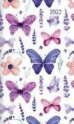 Cover-Bild zu Taschenplaner Style Schmetterling 2022 - Taschen-Kalender 9,5x16 cm - seperates Adressheft - 1 Seite 1 Woche - 64 Seiten - Notiz-Heft - Alpha Edition