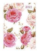 Cover-Bild zu Ladytimer Mini Roses 2022 - Taschen-Kalender 8x11,5 cm - Rosen - Weekly - 144 Seiten - Notiz-Buch - Alpha Edition