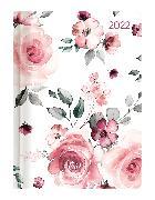 Cover-Bild zu Ladytimer Roses 2022 - Rose - Taschenkalender A6 (11x15 cm) - Weekly - 192 Seiten - Notiz-Buch - Termin-Planer - Alpha Edition