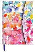 Cover-Bild zu Watercolours 2022 - Diary - Buchkalender - Taschenkalender - 16x22