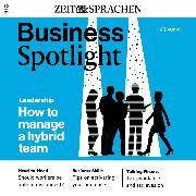 Cover-Bild zu McMaster, Ian: Business-Englisch lernen Audio - Führung hybrider Teams (Audio Download)