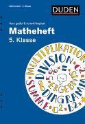 Cover-Bild zu Kammermeyer, Fritz: Matheheft 5. Klasse - kurz geübt & schnell kapiert