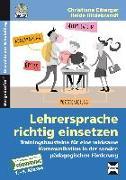 Cover-Bild zu Lehrersprache richtig einsetzen von Eiberger, Christiane