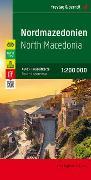 Cover-Bild zu Freytag-Berndt und Artaria KG (Hrsg.): Nordmazedonien, Autokarte 1:200.000, Top 10 Tips. 1:200'000