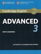 Cover-Bild zu Cambridge English Advanced 3 Student's Book with Answers