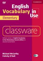 Cover-Bild zu English Vocabulary in Use. Elementary Second Edition. Classware von McCarthy, Michael