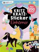 Cover-Bild zu Schindler, Eva (Gestaltet): Kritzkratz-Sticker Einhörner