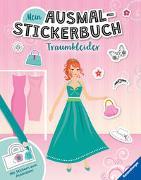 Cover-Bild zu Liepins, Carolin (Illustr.): Mein Ausmal-Stickerbuch: Traumkleider
