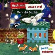 Cover-Bild zu Loewe Meine allerersten Bücher (Hrsg.): Guck mal, schieb mal! Suche und entdecke - Tiere der Nacht