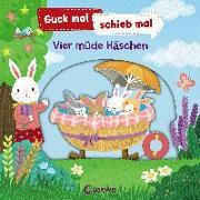 Cover-Bild zu Loewe Meine allerersten Bücher (Hrsg.): Guck mal, schieb mal! - Vier müde Häschen