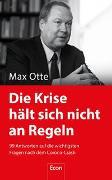 Cover-Bild zu Die Krise hält sich nicht an Regeln von Otte, Max