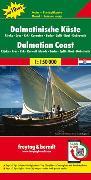 Cover-Bild zu Freytag-Berndt und Artaria KG (Hrsg.): Dalmatinische Küste, Rijeka - Cres - Krk - Kornaten - Zadar - Split - Brac - Dubrovnik, Autokarte 1:150.000, Top 10 Tips. 1:150'000