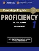 Cover-Bild zu Cambridge English Proficiency 1. Student's Book with answers