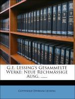 Cover-Bild zu G. E. Lessing's gesammelte Werke, Sechster Band von Lessing, Gotthold Ephraim