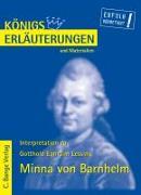 Cover-Bild zu Minna von Barnhelm von Gotthold Ephraim Lessing. Textanalyse und Interpretation (eBook) von Lessing, Gotthold E